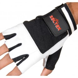 Pro Weightlifting Gloves Leather White Or Blue