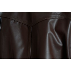 Rogue Drifter Brown Leather Biker Jacket