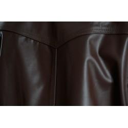 Rogue Drifter Brown Leather Biker Jacket