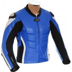 RTX Akira Blue Leather Motorcycle Jacket