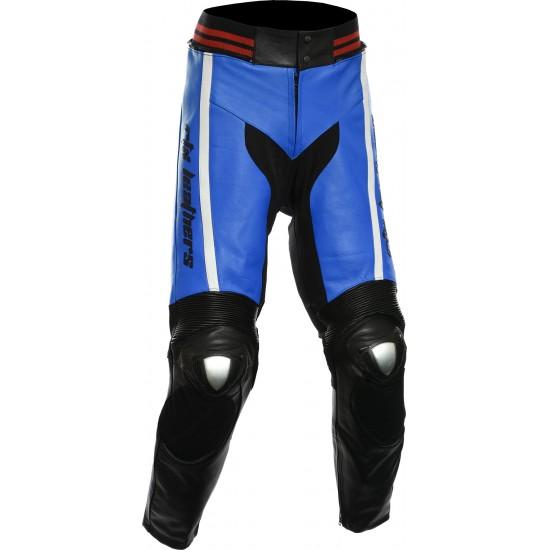 RTX Akira Blue Leather Trouser Pant