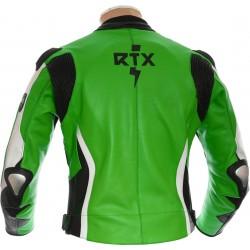 RTX Akira Green Leather Motorcycle Jacket