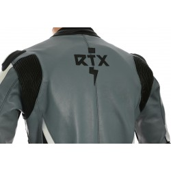 RTX Akira Grey Leather Motorcycle Jacket