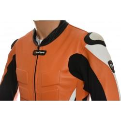 RTX Akira Orange Leather Motorcycle Jacket