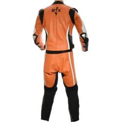 RTX Akira Orange CE Leather 2 Piece Biker Suit