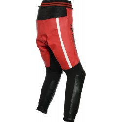 RTX Akira Red Leather Trouser Pant