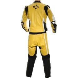RTX Akira Yellow CE Leather 2 Piece Biker Suit
