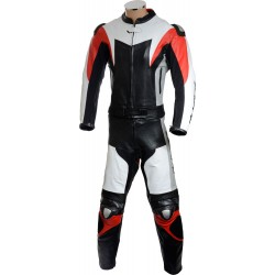 RTX Assassin Red Black Motorcycle Leather 2 Piece Suit