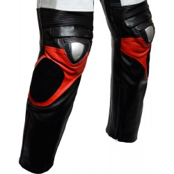 SALE - RTX Assassin Red Black Motorcycle Leather 2 Piece Suit