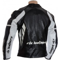 RTX Speedblock Black Leather Jacket