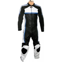 RTX Classic Sport Blue Racing Leather Suit