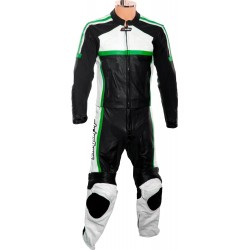 RTX Classic Sport Green Racing Leather Suit