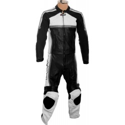 RTX Classic Sport Grey Racing Leather Suit