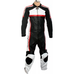 RTX Classic Sport Red Racing Leather Suit