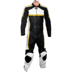 RTX Classic Sport Yellow Racing Leather Suit