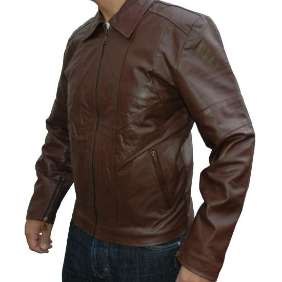 Club Spirit Casual Leather Jacket