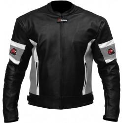RTX Dark Knight Grey Cruiser Leather Biker Jacket