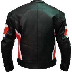 RTX Dark Knight Red Cruiser Leather Biker Jacket