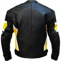RTX Dark Knight Yellow Cruiser Leather Biker Jacket