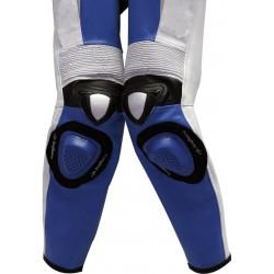 RTX Blue Spartan Sports Biker One Piece Leather Suit