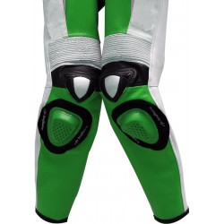 RTX Green Spartan Sports Biker One Piece Leather Suit