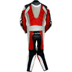 RTX Red Spartan Sports Biker One Piece Leather Suit
