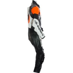 Mini Moto Junior Orange Biker Leather Suit