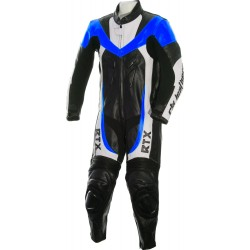 Mini Moto Junior Blue Biker Leather Suit