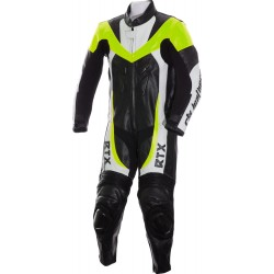 Mini Moto Junior Fluorescent Yellow Biker Leather Suit
