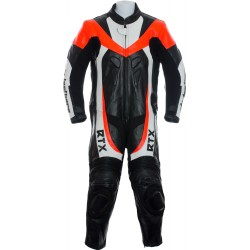 Mini Moto Junior Red Biker Leather Suit