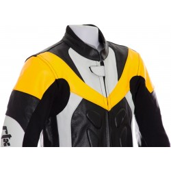 Mini Moto Junior Yellow Biker Leather Suit