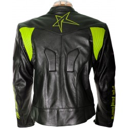 RTX Force One Florescent Black Leather Jacket