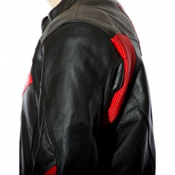 RTX Force One Red Black Leather Jacket