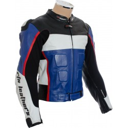 GP Tech Blue Black Motorcycle Sports Biker Jacket