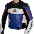 RTX GP Tech Blue Leather Jacket