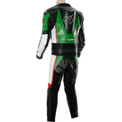 RTX GP Tech Racing Green Leather Suit