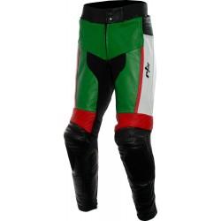 RTX GP Tech Green Leather Biker Pant