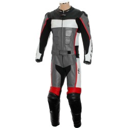RTX GP Tech Racing Grey Leather Suit