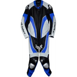 Halo Evo Sports Blue Leather Motorcycle Suit