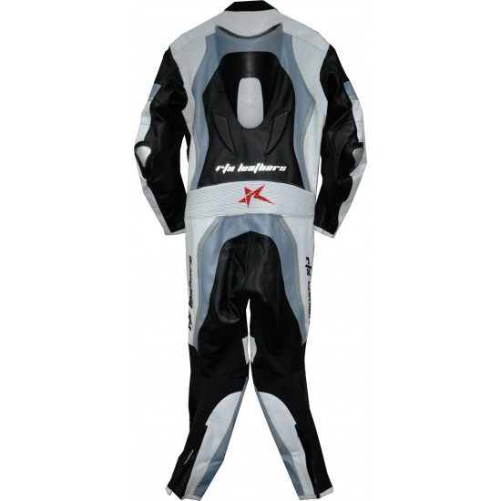 Halo Evo Sports Grey Leather Motorcycle Suit