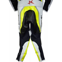 Halo Evo Sports Neon Yellow Leather Motorcycle Suit