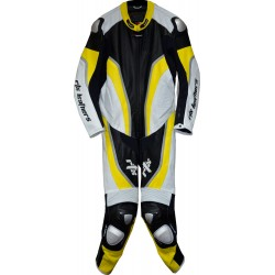 Halo Evo Sports Yellow Leather Motorcycle Suit