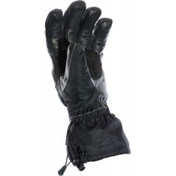 Hydro Kinetic Black Waterproof Leather Motorcycle Gloves