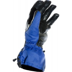 Hydro Kinetic Blue Waterproof Leather Motorcycle Gloves