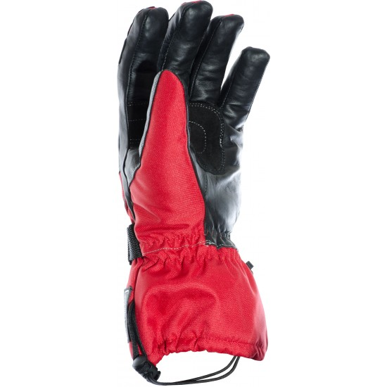Hydro Kinetic Red Waterproof Leather Motorcycle Gloves