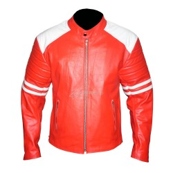 Fight Club Replica Red Casual Leather Jacket