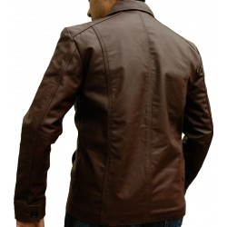 Mafia Brown Leather Jacket