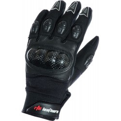 MotoX Black Pro Motocross Leather Gloves