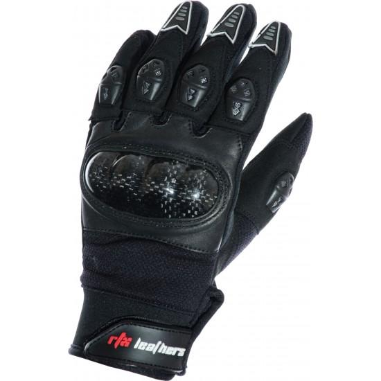MotoX Black Pro Motocross Leather Gloves