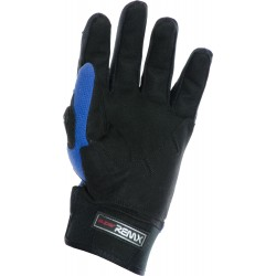MotoX Blue Pro Motocross Leather Gloves